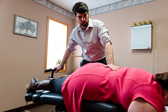 Chiropractor Michigan City IN Dr. Nicholas Herbert Chiropractic Adjustment